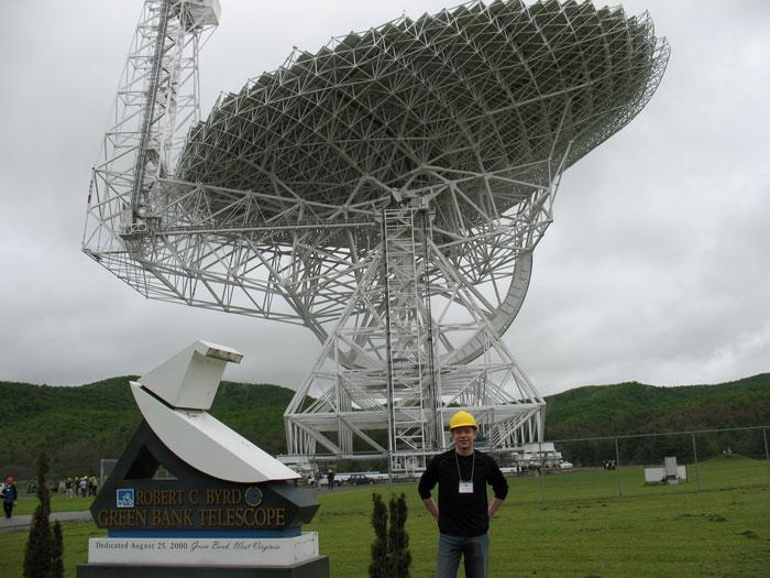 Brian Essleman at the Green Bank Telescope