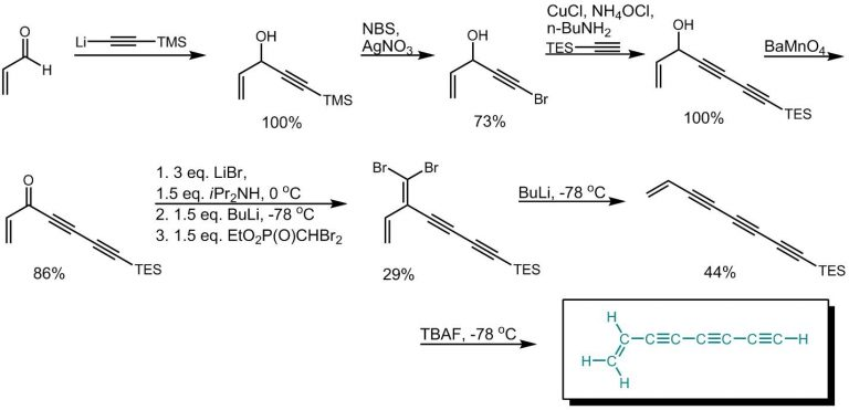 Synthesis of oct-1-ene-3,5,7-triyne